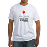Fitted T-Shirt (quote-front/flag-back)