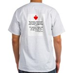 Ash Grey T-Shirt (quote only-back)
