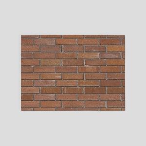 Brick Wall 5'x7'Area Rug