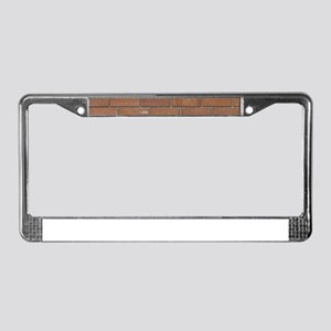 Brick Wall License Plate Frame