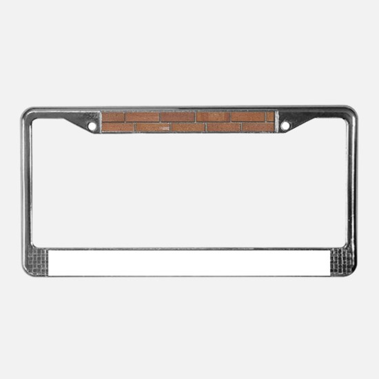 Brick Wall License Plate Frame