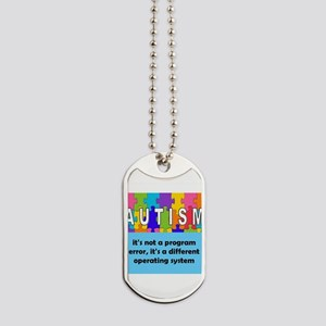 Autism different operating system square Dog Tags