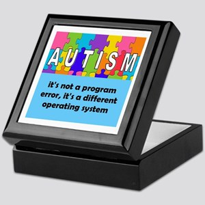 Autism different operating system squ Keepsake Box