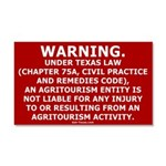 Texas Liability Relief Sign Car Magnet 20 X 12