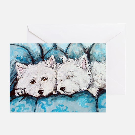 Westie Couch Potatoes Greeting Cards (Pk of 20)