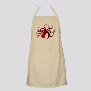 red vintage octopus Apron