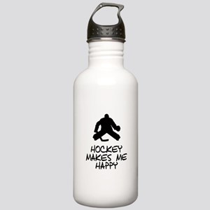 Hockey Makes Me Happy Water Bottle