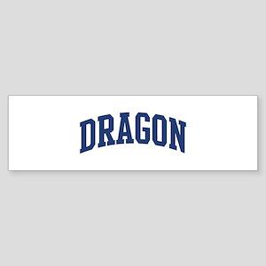 DRAGON design (blue) Bumper Sticker