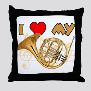 I *HEART* My French Horn Throw Pillow