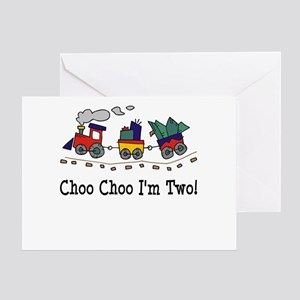 Choo Choo I'm 2 Greeting Card