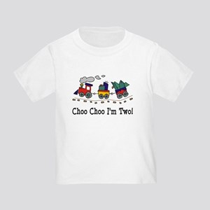 Choo Choo I'm 2 Toddler T-Shirt