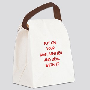 deal with it Canvas Lunch Bag