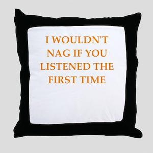 nag Throw Pillow