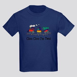 Choo Choo I'm 2 Kids Dark T-Shirt