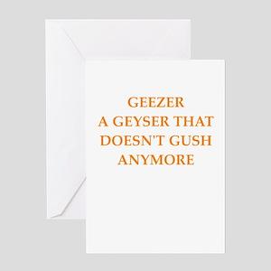 geezer Greeting Cards