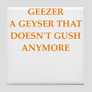 geezer Tile Coaster