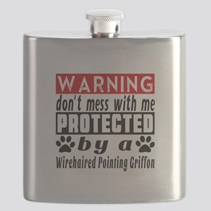 Protected By Wirehaired Pointing Griffon Flask