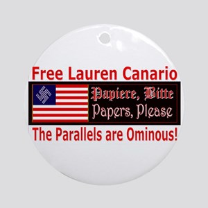 Free Lauren-1 Ornament (Round)