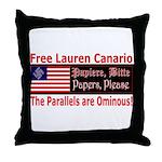 Free Lauren-1 Throw Pillow