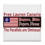 Free Lauren-1 Tile Coaster
