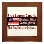 Free Lauren-1 Framed Tile