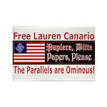 Free Lauren-1 Rectangle Magnet