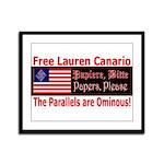 Free Lauren-1 Framed Panel Print
