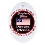 Free Lauren-2 Oval Ornament