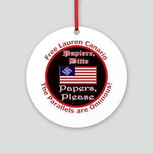 Free Lauren-2 Ornament (Round)