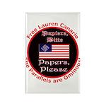 Free Lauren-2 Rectangle Magnet