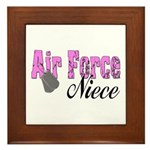 Air Force Niece Framed Tile