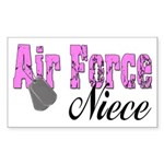 Air Force Niece Rectangle Sticker
