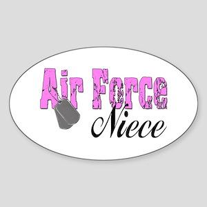 Air Force Niece Oval Sticker