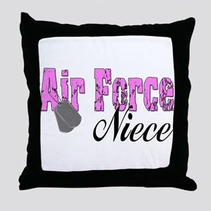 Air Force Niece  Throw Pillow