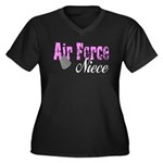 Air Force Niece Women's Plus Size V-Neck Dark T-S