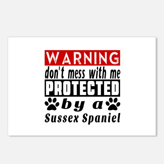 Protected By Sussex Spani Postcards (Package of 8)