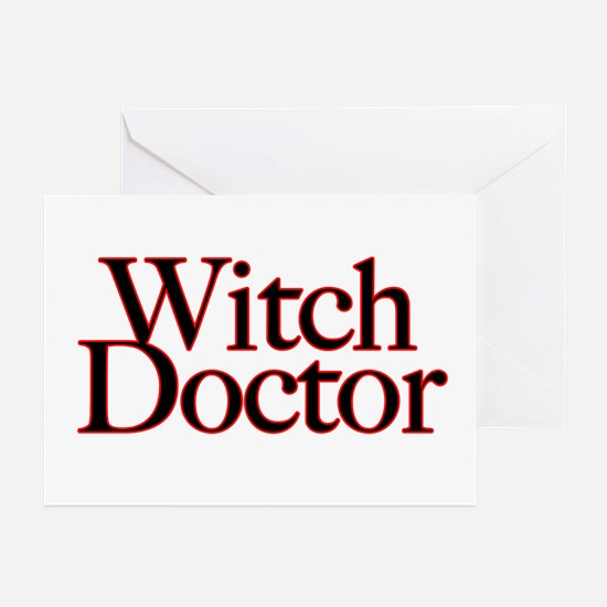 Witch Doctor (text) Greeting Cards (Pk of 10)