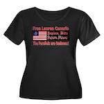 Free Lauren-1 Women's Plus Size Scoop Neck Dark T-