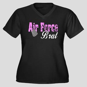 Air Force Brat ver1 Women's Plus Size V-Neck Dark