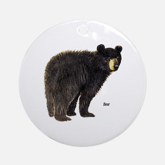 Black Bear Ornament (Round)