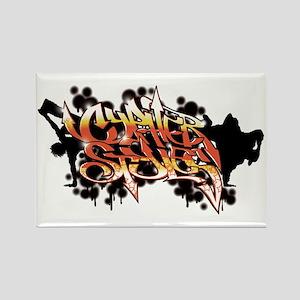 High Rez CS Graffiti Rectangle Magnet