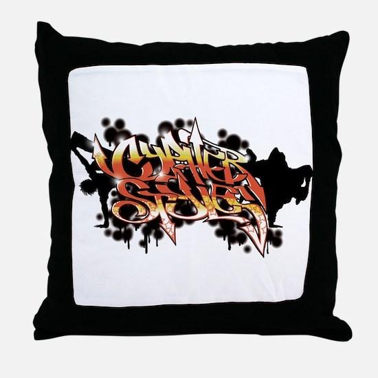 High Rez CS Graffiti Throw Pillow