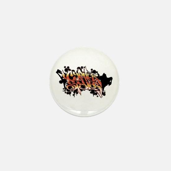 High Rez CS Graffiti Mini Button