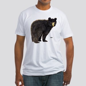 Black Bear (Front) Fitted T-Shirt