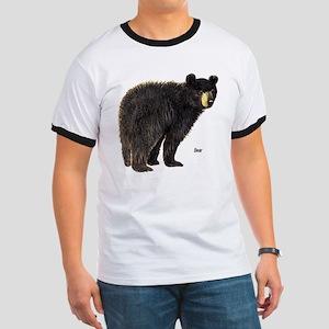 Black Bear (Front) Ringer T