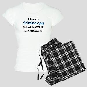 teach criminology Women's Light Pajamas