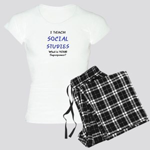 teach social studies Women's Light Pajamas