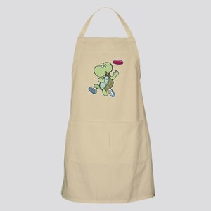 Turtle Playing Frisbee BBQ Apron