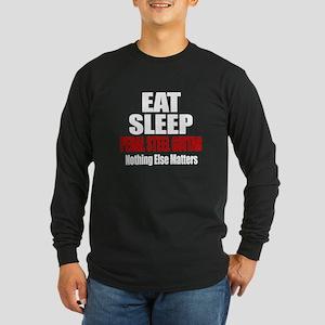 Eat Sleep Pedal Steel Gui Long Sleeve Dark T-Shirt