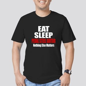 Eat Sleep Pedal Steel Men's Fitted T-Shirt (dark)